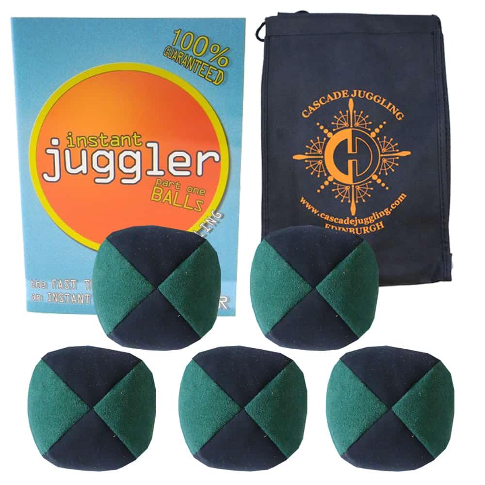 Black and Silver Set of 3 Juggling Balls 3 x Pro 120g Thud Juggling Balls /& Cascade Bag