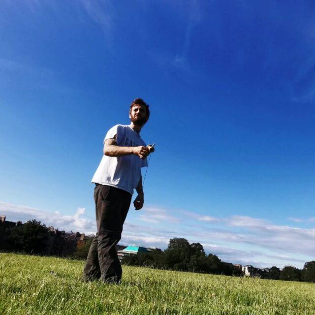 A quick post work kendama trick with @juggle_monkey Whirlwind>bird